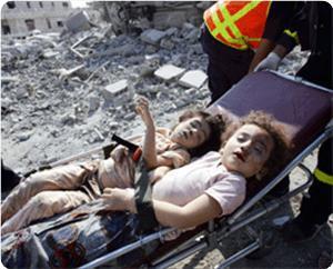 Niños palestinos muertos por el sionismo040308